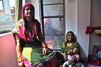 Moslem Woman Sewing Clothes Jaipur Rajasthan