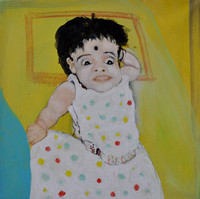 3) Orphan Girl Child Oil/Canvas 2013 30cmx30cm
