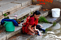 Woman Doing the Washing Mahapradesh