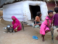 Villagers on Edge of Thar Desert near Bikaner (5)