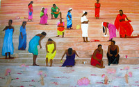 Women enjoying Ganga 2011 110cmx170cm