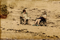 two women on sand