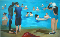 Watching the Dead Sea Die 100cm x170cm 2007 oil canvas.JPG