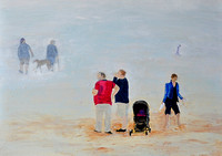 The Discontented Scarborough Beach Acrylic Oil  on Hardboard 30cmx40cm 2017