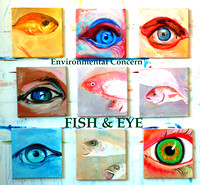 Fish and Eye 9(30cmx30cm)