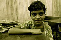 Slum School Child with Broken Arm