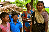 Village Mothers with Sons Uttar Pradesh